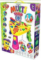 Детский набор для творчества, набор для лепки, кинетический песок Multi Table укр. Danko toys
