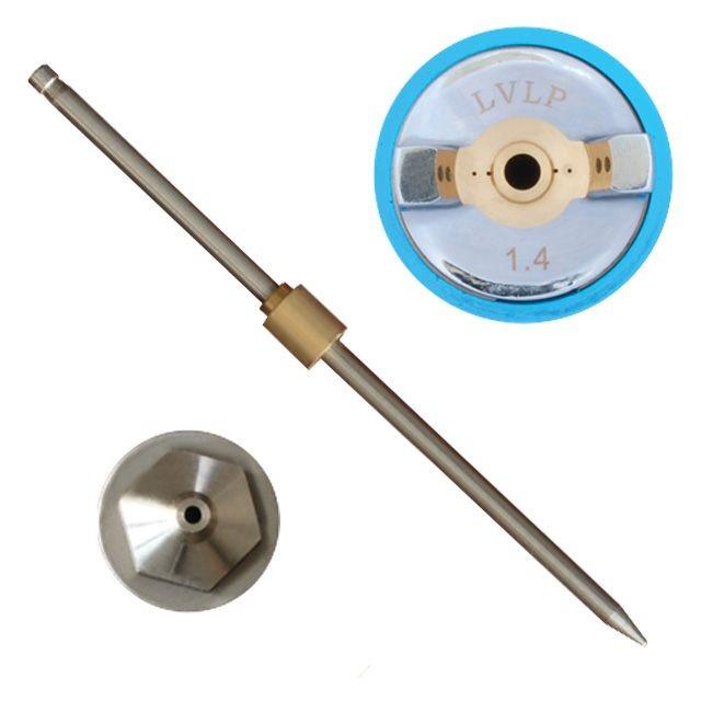 Комплект форсунки 1.4мм для краскопульта LVLP PT-0131,PT-0132,PT-0133,PT-0134,PT-0135,PT-0136 (дюза, воздушная