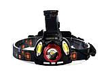 Фонарь налобный аккумуляторный 2в1 YT-1500, фото 3