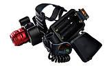 Фонарь налобный аккумуляторный 2в1 YT-1500, фото 7