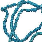 Сколы Камня Бирюза Куб Средние, Размер 4-6*4-6 мм, Около 87 см нить, Бусины, Рукоделие, Фурнитура, фото 4