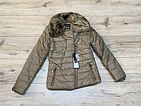 Теплая куртка на синтепоне со съемным мехом. (Подкладка- мех). 15/16 лет