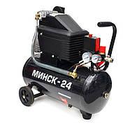 Компрессор 24 л, 1,1 кВт, 220 В, 8 атм, 190 л/мин INTERTOOL PT-0020, фото 2