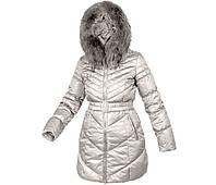 Пуховик женский зимний с натуральным пухом с натуральным мехом с капюшоном City Classic