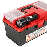 "Ящик для инструмента c фонарем 16"" 395*220*200 мм INTERTOOL BX-0017, фото 4"