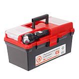 "Ящик для инструмента c фонарем 16"" 395*220*200 мм INTERTOOL BX-0017, фото 6"