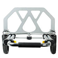 Тележка ручная складная до 100 кг, 420*480*980, колеса 170 мм, (алюминиевая) INTERTOOL LT-9012, фото 2