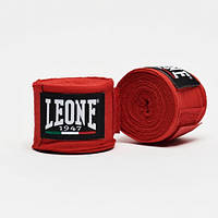 Бинты боксерские Leone Red 4,5м, фото 1