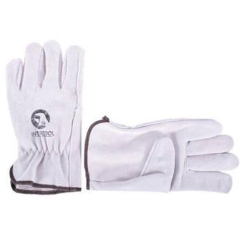 Перчатка замшевая INTERTOOL SP-0155