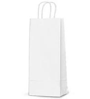 Пакет паперовий «Білий КРАФТ» з крученими ручками 150х90х400 мм