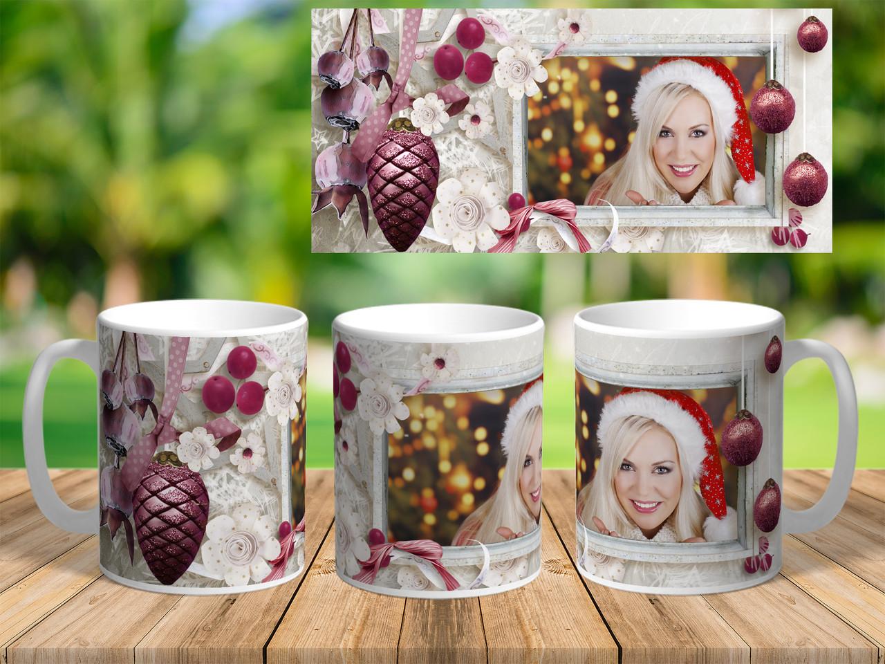 Чашка с фото, подарок на Новый Год