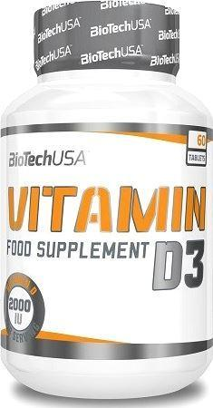 Витамин Д3 BioTech Vitamin D3 2000 IU 50 мкг 60 таб