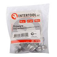 Хомут нержавеющая сталь 8 мм D 13-23 мм INTERTOOL TC-1013, фото 2