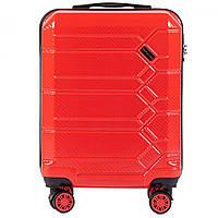 Чемодан поликарбонат Wings PC185 маленький - ручная кладь (S, 35 л) Красный (Blood red)
