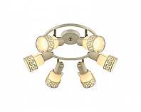 Светильник потолочный Altalusse INL-9330C-06 Antique brass & Ivory