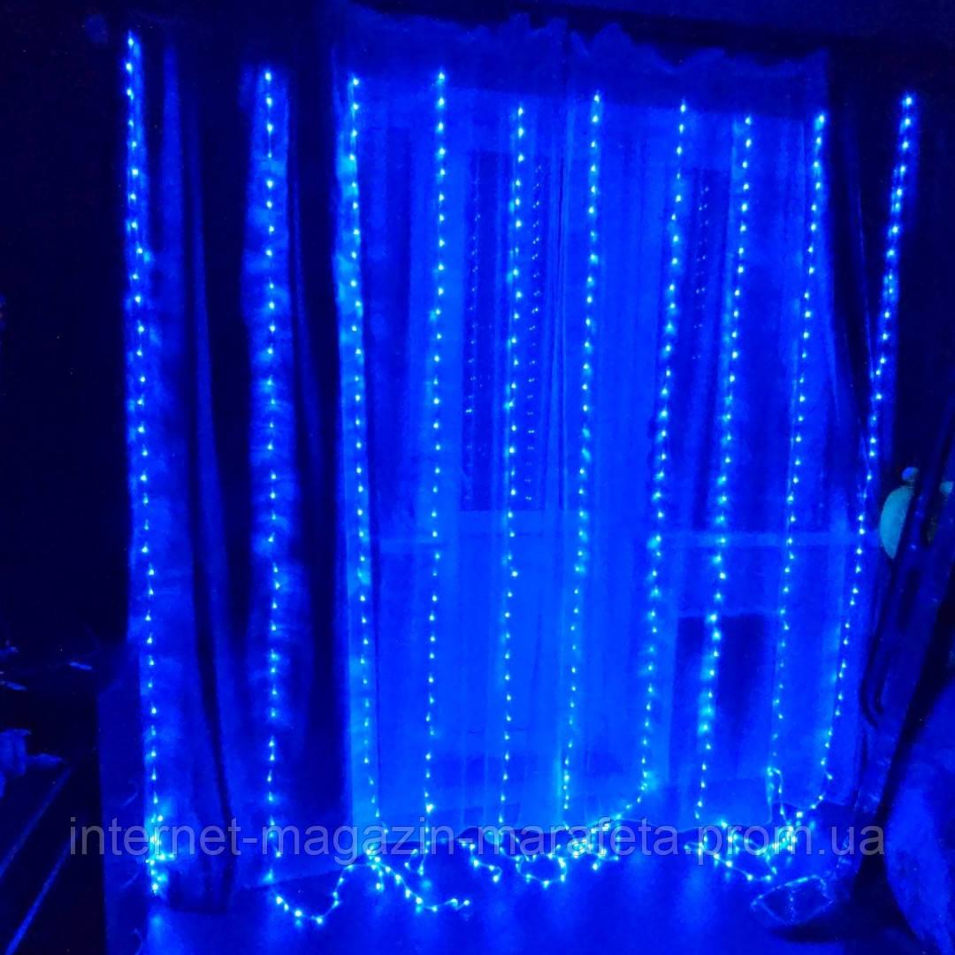 Гирлянда Водопад комнатная 2м.*2м. холодный белый, синий,  теплый