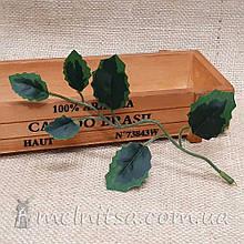 Искусственный лист лианка, ткань 17х12 см
