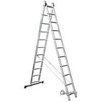 Лестница универсальная трансформер 2х11 ступ, 5.13 м, ITOSS 7511 (15080)