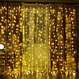 "Новогодняя комнатная гирлянда ""Штора"" 2м/2м~синий, х.белый, т.белый, фото 3"