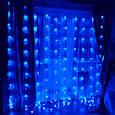 "Новогодняя комнатная гирлянда ""Штора"" 2м/2м~синий, х.белый, т.белый, фото 2"