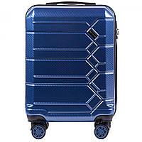 Чемодан поликарбонат Wings PC 185 маленький - ручная кладь (S, 35 л) Синий (Blue)