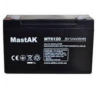 Аккумуляторная батарея MastAK MT6120 6V 12Ah свинцово- кислотная герметичная SLA
