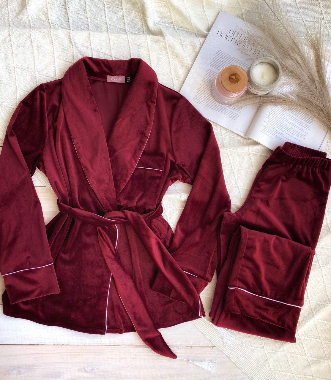 Плюшевый комплект Халат + штаны