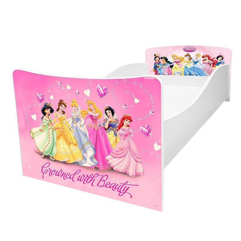 Кровать детская Kinder / Киндер 20 Принцессы с защитным бортиком ТМ Viorina-Deko