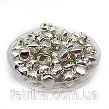 Бубенцы маленькие серебристые 9 мм