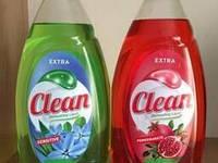 Жидкость для мытья посуды Clean 900 мл/Венгрия(в асортименте)