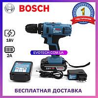Шуруповерт Bosch GSR 18-2-LI Plus (18V 2A/h Li-Ion) Аккумуляторная дрель-шуруповерт Bosch
