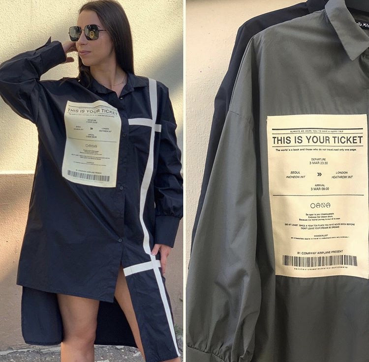 Женское платье-рубашка Stella Milani 102-15 Италия