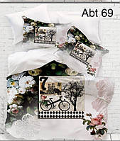 """Комплект постільної білизни ALTINBASAK Сатин 3D """"abt 37"""" Євро"""