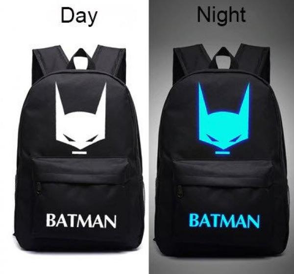Світиться міський рюкзак Batman з USB зарядкою і кодовим замком