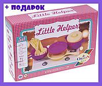 """Плита """"Маленькая хозяюшка"""" + посуда, детская плита с набором посудки+подарок"""