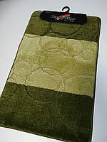 Набор ковриков в ванную и туалет Зелёный 80*50 см