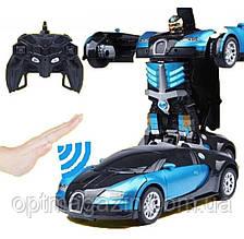 Детская игрушечная машинка робот-трансформер Bugatti Robot Car Size 1:12