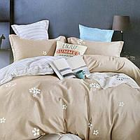 Постельное белье Семейный комплект с простынью на резинке | Постельное белье с фланели два пододеяльника.
