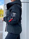 Женская куртка на завязках ткань парка напонитель силикон 200 размер:42/44, 46/48, 50/52, 54/56, фото 2