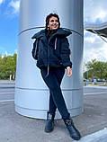 Женская куртка на завязках ткань парка напонитель силикон 200 размер:42/44, 46/48, 50/52, 54/56, фото 3