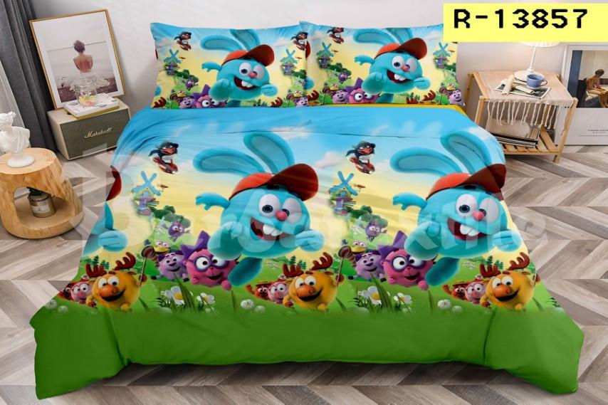 Комплект детского постельного полуторного белья Малышарики, ранфорс, 100% хлопок