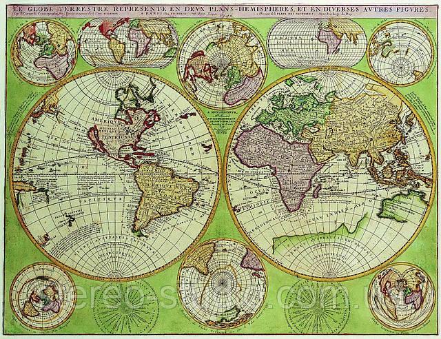 Декоративная карта 68см х 88см