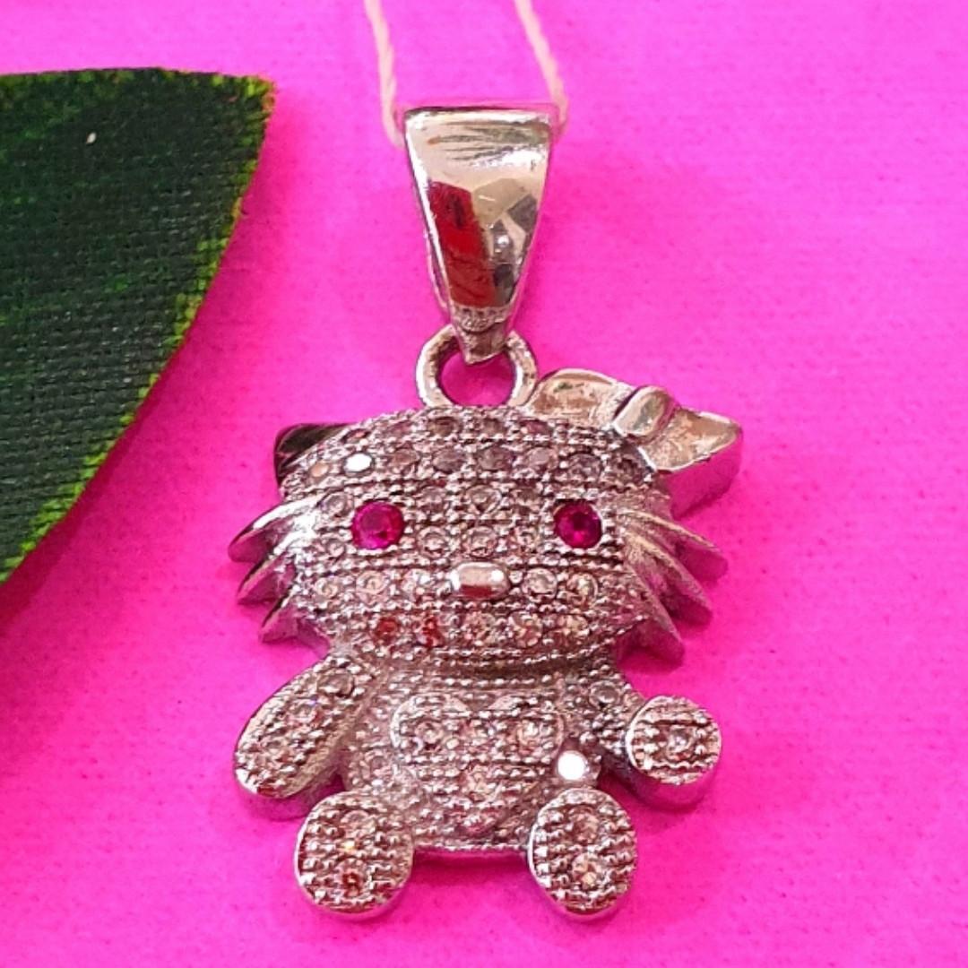 Серебряный кулон Helo Kitty - Кулон кошка серебро 925