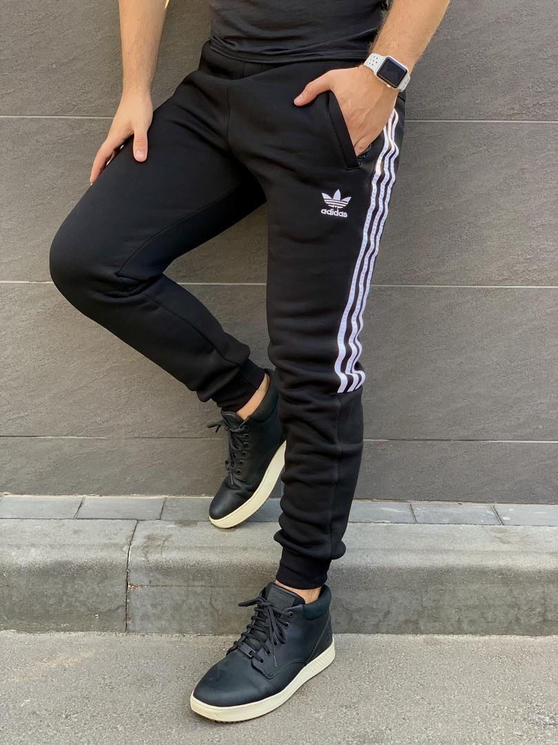 Мужские спортивные  штаны Adidas на флисе