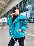 Женская куртка на завязках ткань парка напонитель силикон 200 размер:42/44, 46/48, 50/52, 54/56, фото 6