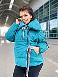 Женская куртка на завязках ткань парка напонитель силикон 200 размер:42/44, 46/48, 50/52, 54/56, фото 7