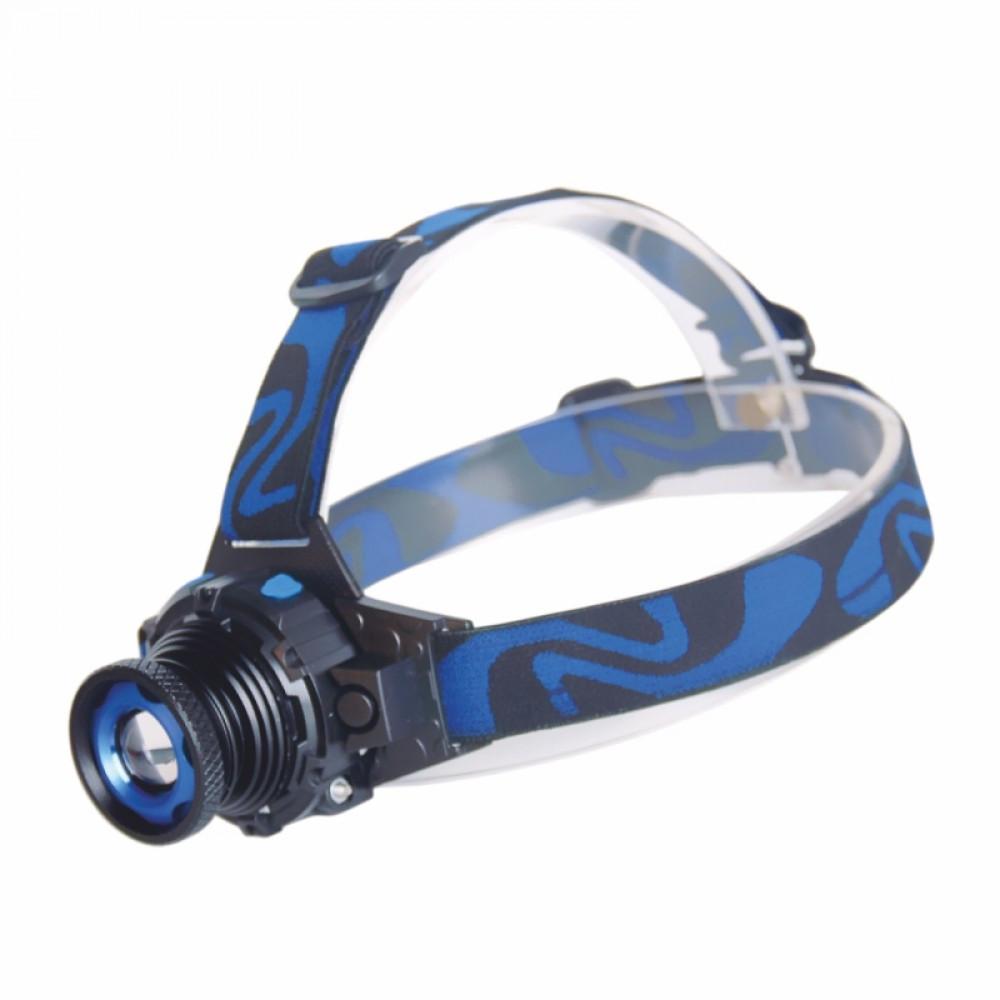 Ліхтарик на лоб 3W ZOOM акумулятор 400mAh TRAVEL RIGHT HAUSEN