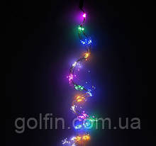 """Новорічна гірлянда """"Дріт"""" ХВІСТ (RGB) 10 зволікань / 2м, 200 з контроллером LED"""