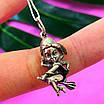 Кулон ведьма на метле серебро - Серебряная подвеска Ведьмочка, фото 6