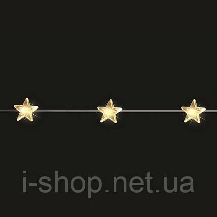 """Гирлянда 2,2 м., """"Желтые звездочки"""" """"Luca"""", цвет теплый белый, фото 2"""